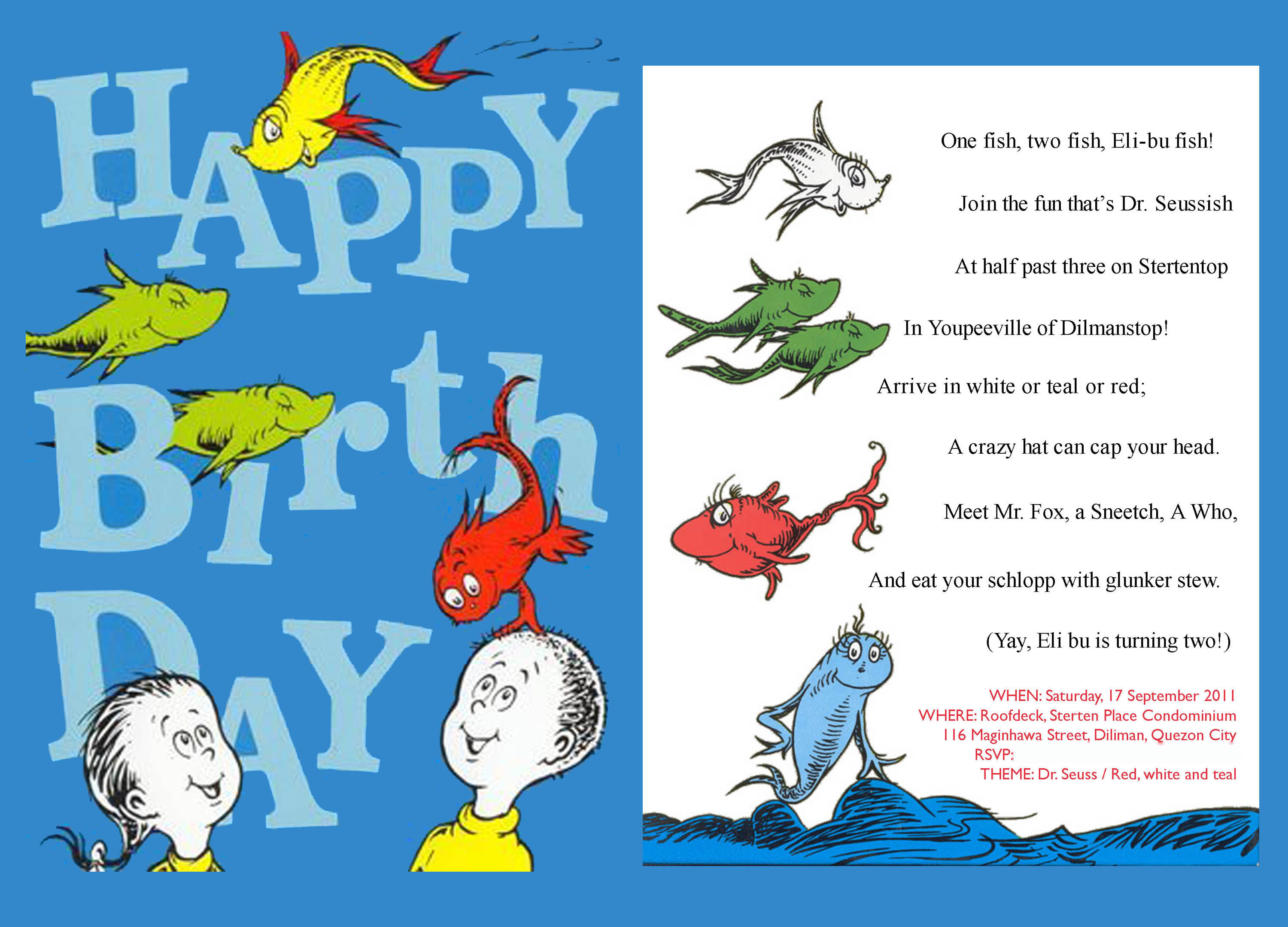 Dr Seuss Invite as awesome invitations design